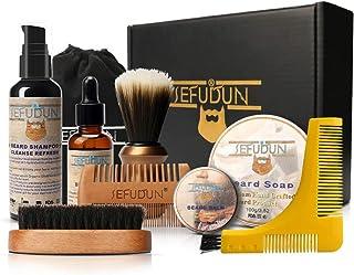 Beard Care Kit, Anself 9pcs Beard Growth Kit Beard Brush+Shaving Brush+Shaving Brush+Beard Balm+Beard Soap+Beard Shampoo+W...