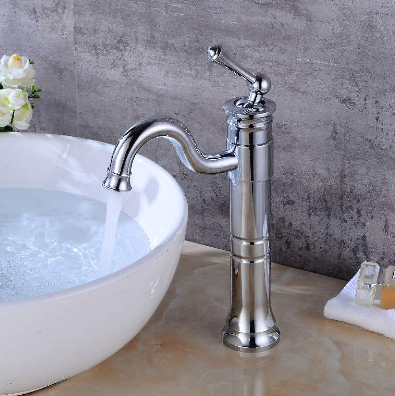 Faucet Plating Basin Faucet Above Counter Basin redating Faucet Bathroom Waterfall hot and Cold Faucet Retro Basin Faucet