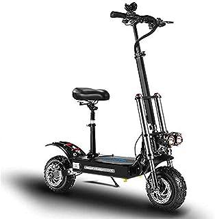 JAJU Elektrisk scooter, 28 cm dubbel drivenhet off-road mountainbike, 5 600 W elskoter, 60 V 21 Ah 80 km superbatteri liv ...