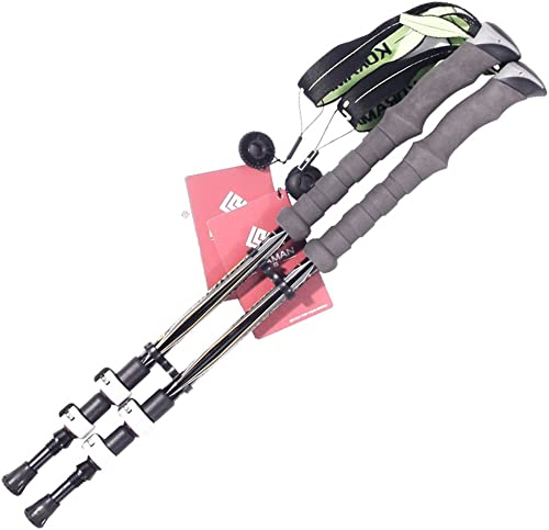 MuMa Batons de randonnée Alpenstock Carbon Télescopique Très Léger sur Pied Canne Alpinisme Une Paire