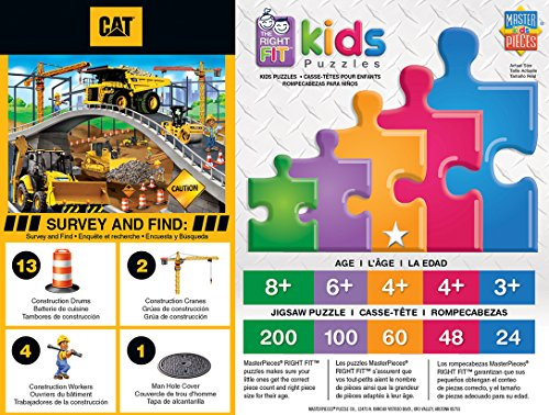 MasterPieces Caterpillar 60 Right Fit Puzzles Collection - 0 60 Piece Jigsaw Puzzle
