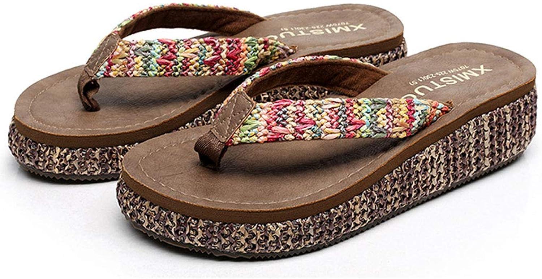 Summer Platform Flip Flops - Women's Comfortable Retro Wedge Sandals Outdoor Beach shoes
