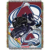 NHL Colorado Avalanche 'Home Ice Advantage' Woven Tapestry Throw Blanket, 48' x 60'