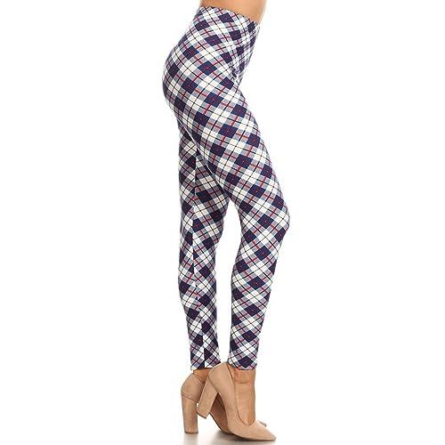 57a89b11b815e2 Leggings Depot Women s Buttery Soft Classic Fashion Print Leggings BAT4