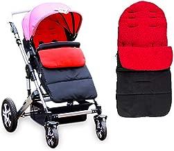 Diagtree Baby Sleeping Bag Universal 3 in 1 Stroller Annex Mat Footmuff Cover Stroller Bunting Bag Waterproof Windproof Cold-Proof Detachable (Red)