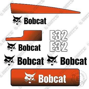 BOBCAT E50 MINI DIGGER DECAL STICKER SET