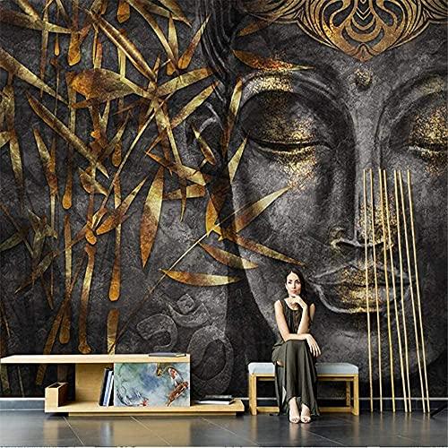 Fototapete Buddha moderne Wandbild Wand Schlafzimmer Wohnzimmer 3d Effekt 200x140cm