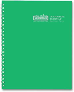 House of Doolittle 2015 - 2016 Academic Year Calendar Planner, Weekly, Green Simulated Leather Cover, 5 x 8 Inches (HOD277509-16)