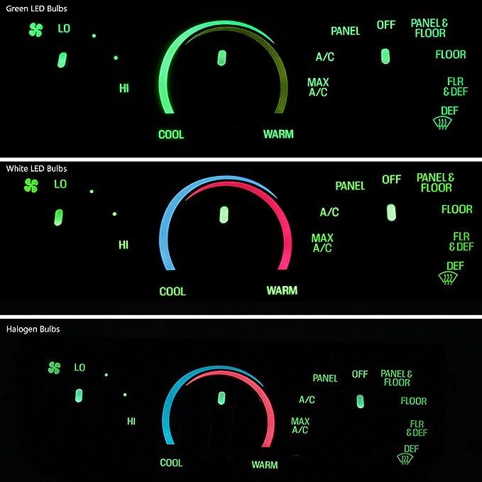 HERCOO LED Lights Bulbs Kit of AC Climate Heater Control ...