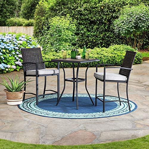 sunjoy patio furniture sets Sunjoy Flarfield 3-pc. Counter Height Bistro Set, Beige