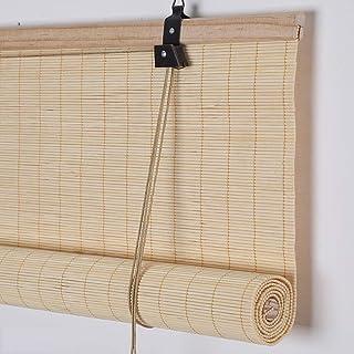 Koovin Persianas Enrollables De Bambú, Persianas Venecianas para Exteriores/Interiores/Balcones,Estores para Ventana con Aislamiento TéRmico con Protector Solar