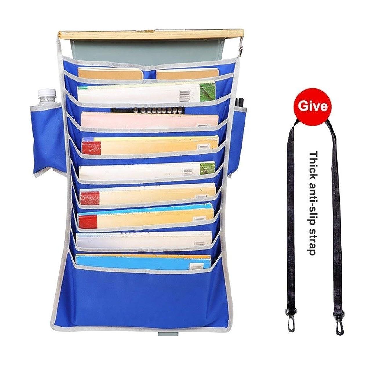 頻繁に接尾辞習熟度デスクサイドマウントキャディストレージ主催アジャスタブル学生教室ブックを吊るすペンホルダー文房具収納袋ファイル丈夫な防水オックスフォード生地 (Color : B1)