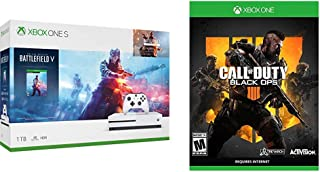Xbox One S 1TB Console - Battlefield V Bundle Bundle with Call of Duty: Black Ops 4 - Xbox One Standard Edition