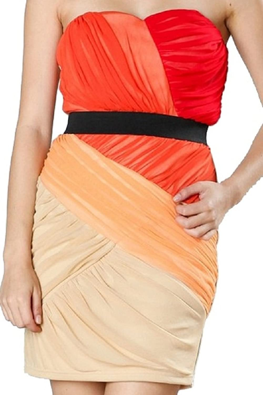 Ark & Co Women's Letizia colorblock Strapless Dress
