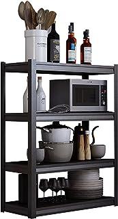 QINJIE 5 Niveaux de Cuisine boulangers Rack étagère de Rangement Utilitaire Four à Micro-Ondes Utilitaire Chariot de Range...