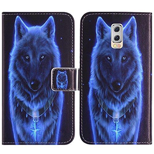 TienJueShi Wolf Flip Book-Style Brief Leder Tasche Schutz Hulle Handy Hülle Abdeckung Fall Wallet Cover Etui Skin Fur M-Horse Power 2 5.5 inch