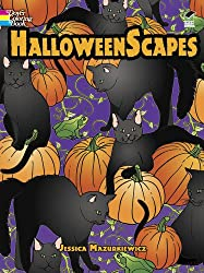 halloween scapes coloring book