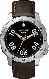 Nixon Ranger 40 Leather Black / Brown Stainless Steel Analog watch