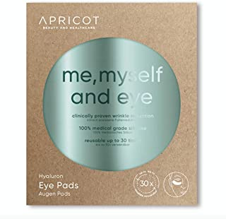 NEW! Silicone care Eye Pads enriched with highly effective Hyaluron! Reusable Siliconepads, original APRICOT product made in Germany! clinically proven efficacy! Softens eye wrinkles!