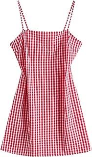 Women's Mini Dress Spaghetti Straps Sleeveless Boho Beach Dress