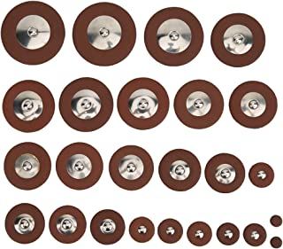 RBSD Läder Tenor Sax ersättningstillbehör 9 mm till 52 mm multistorlek 25 stycken Tenor Sax Pads, hållbar för Tenor Sax er...