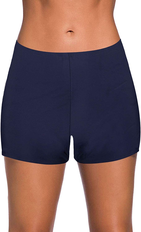Yonique Womens Swim Shorts Solid Tankini Bottoms Swimsuit Bottoms