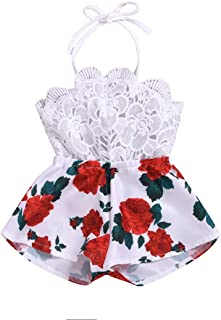 Baby Girls Halter One-Pieces Romper Jumpsuit Sunsuit Outfit Clothes 0-24M