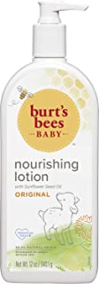 Burt's Bees Baby Nourishing Lotion with Sunflower Seed Oil, Original Scent, Pediatrician d, 99.0% Natural Origin, 12 Ounces