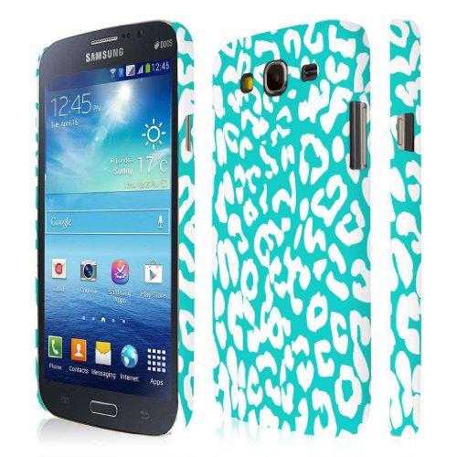 Empire Signature Series - Carcasa para Samsung Galaxy Mega 5.8 I9152 e I9150, diseño de piel de leopardo, color azul