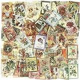 Pegatinas de Sellos, 240 Hojas Pegatinas Scrapbooking, Plantas Flores Tema para Álbum DIY Cuaderno Calendario Calendarios Decoración Scrapbooking Álbumes de Recortes
