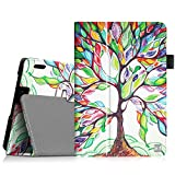 Fintie Folio Case for Fire HDX 7 - Slim Fit Leather Standing Protective Cover with Auto Sleep/Wake (Will only fit Kindle Fire HDX 7' 2013), Love Tree