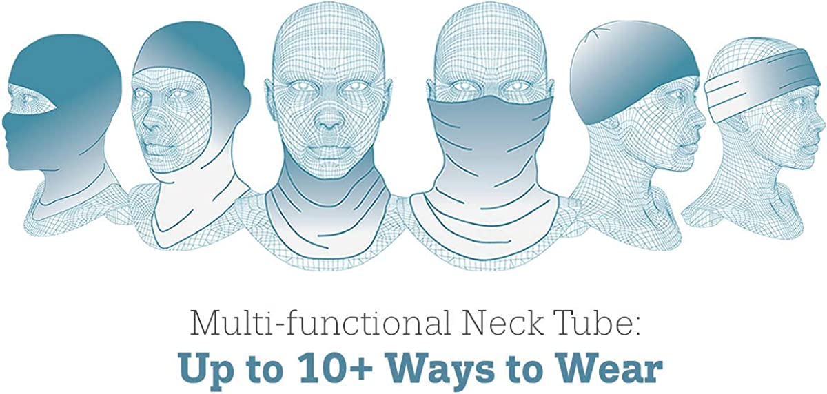 Turtle Fur Comfort Shell UV Totally Tubular, Neck Gaiter Face Mask, 10+ Ways to Wear