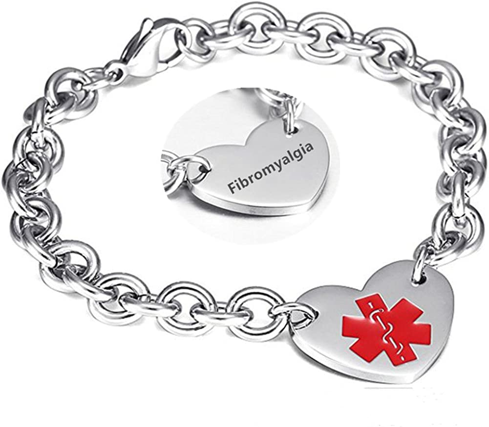 LF 316L Stainless Steel DNR Engraved Alert Heart Max 73% OFF OFFicial mail order Medical Charm L