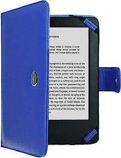 TECHGEAR Azul Kindle Funda de Cuero PU con Cierre magnético Carcasa para Amazon Kindle eReader y Kindle Paperwhite con Pantalla de 6 Pulgadas [Estilo de Libro] con Protector de Pantalla Incluido