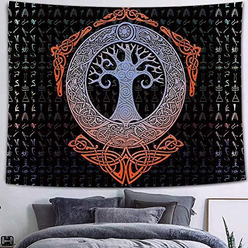 WERT Luna Estrella Tapiz Colgante de Pared astrología adivinación Colcha decoración de la Pared telón de Fondo del hogar Tapiz de Tela A22 73x95cm