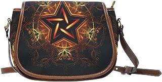 InterestPrint Saddle Bag Nebula Waterproof Fabric Handbags Shoulder Bag for Women Girls