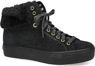 حذاء رياضي نسائي من Keds Rise Hi من الفرو الصناعي لون أسود مقاس 6