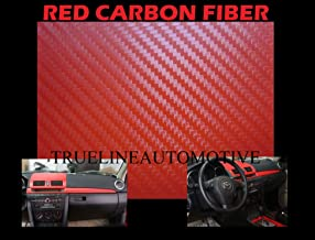 2003-2009 NISSAN 350Z 350 Z RED Carbon Fiber Hood Dash Mirror Roof Wrap Sheet Vinyl Decal 12'' x 60'' 2004 2005 2006 2007 2008 03 04 05 06 07 08 09
