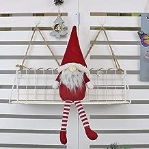 Dergo ☀ Christmas Doll,Christmas Faceless Doll Santa Long Leg Plush Ornament Décor Kid Toy Gift (C)