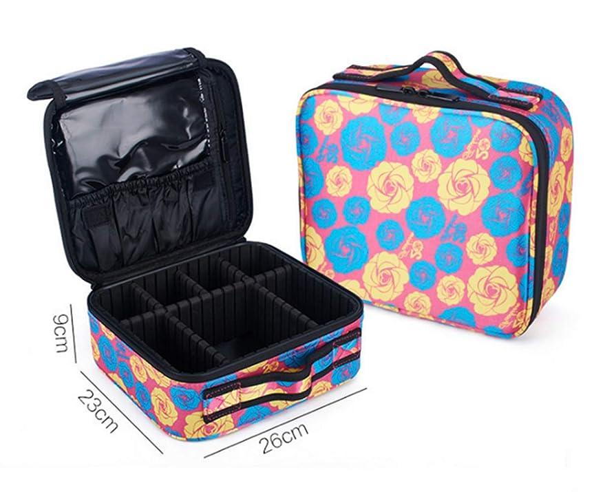 血まみれシリーズ反乱WOFWORD プロ用 メイクボックス 高品質 收納抜群 大容量 化粧バッグ 置き方が調整できる 旅行 家用に大活躍な化粧箱 (ピンクローズ)