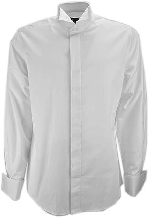 Grino Firenze Camisa de Hombre de Esmoquin Blanco de Cuello de Tragar La Cola del manguito de Los Gemelos de La Ceremonia