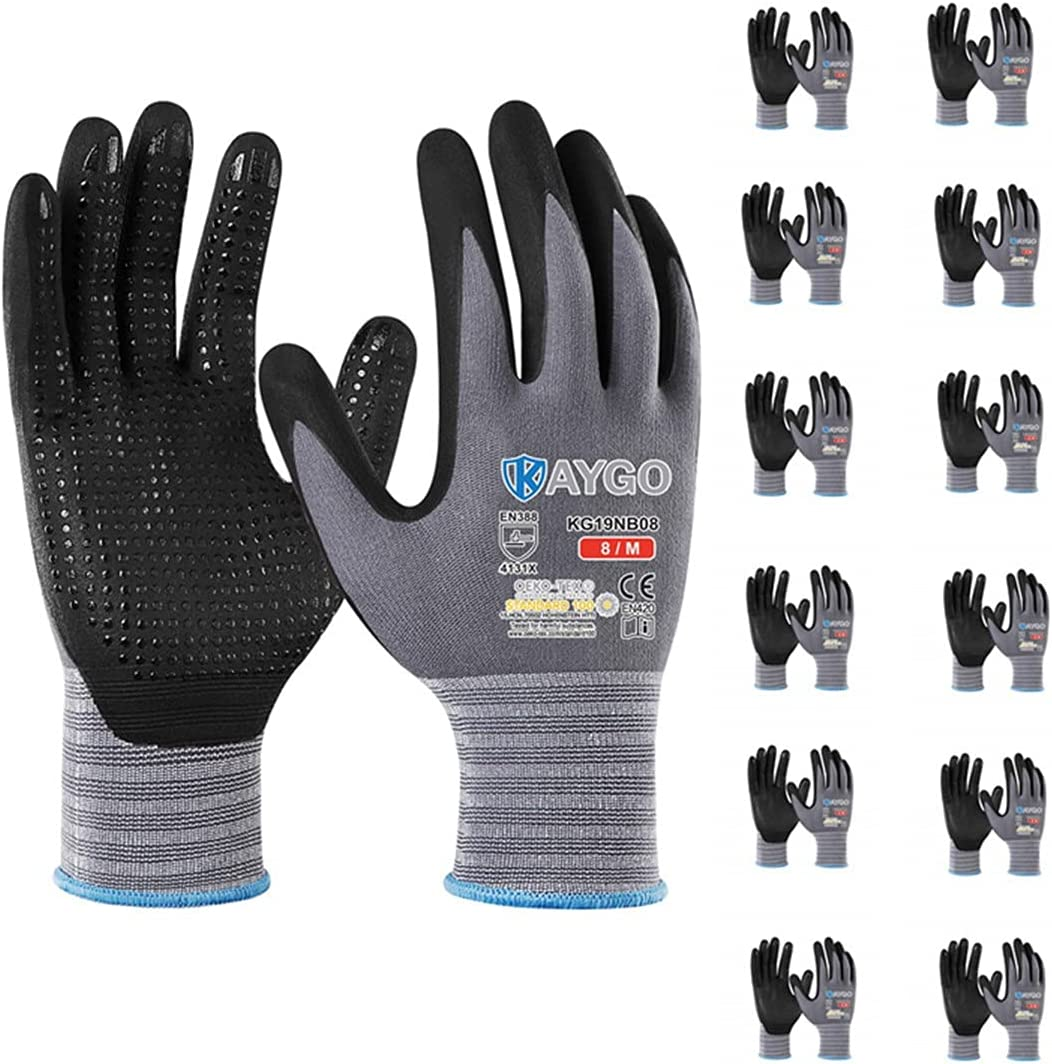 Spring new work one after another Work Gloves MicroFoam Nitrile Coated KAYGO KG19NB Seamless Kn New arrival -