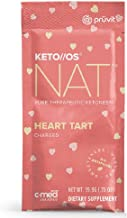 Pruvit Keto//OS NAT Charged, Pruvit Keto OS MAX, Heart Tart BHB Salts Ketogenic Supplement Ketones for Fat Loss, Workout Energy Boost Through Fast Ketosis (Keto OS NAT Heart Tart, 5 Sachets)