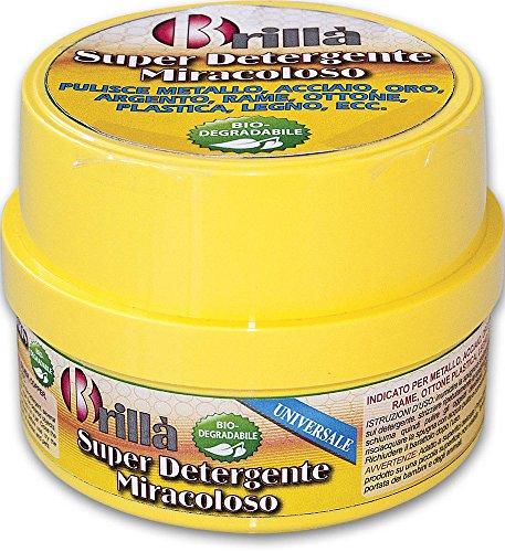 Briancasa Super detergente miracoloso per Acciaio Oro Argento Ottone plastica Legno