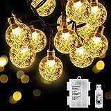 KOTONAMI Catena Luminos,7.5m 50 LEDs Stringa leggera Impermeabile 8 Modalità con Telecomando e USB per Balcone, Giardino,Feste,Camera(Bianco Caldo)(no batteria)[Classe di Efficienza Energetica A++++]