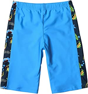 Kids Boys Quick Dry Sun Protection Compression Jammer Colorblock Swim Trunks