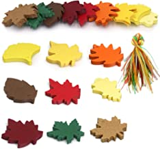 Gift Tags,Thanksgiving Tags,180 PCS Color Paper Tags for Party Favors Colorful 9 Styles Leaf Craft Hang Tags with Organza Ribbons