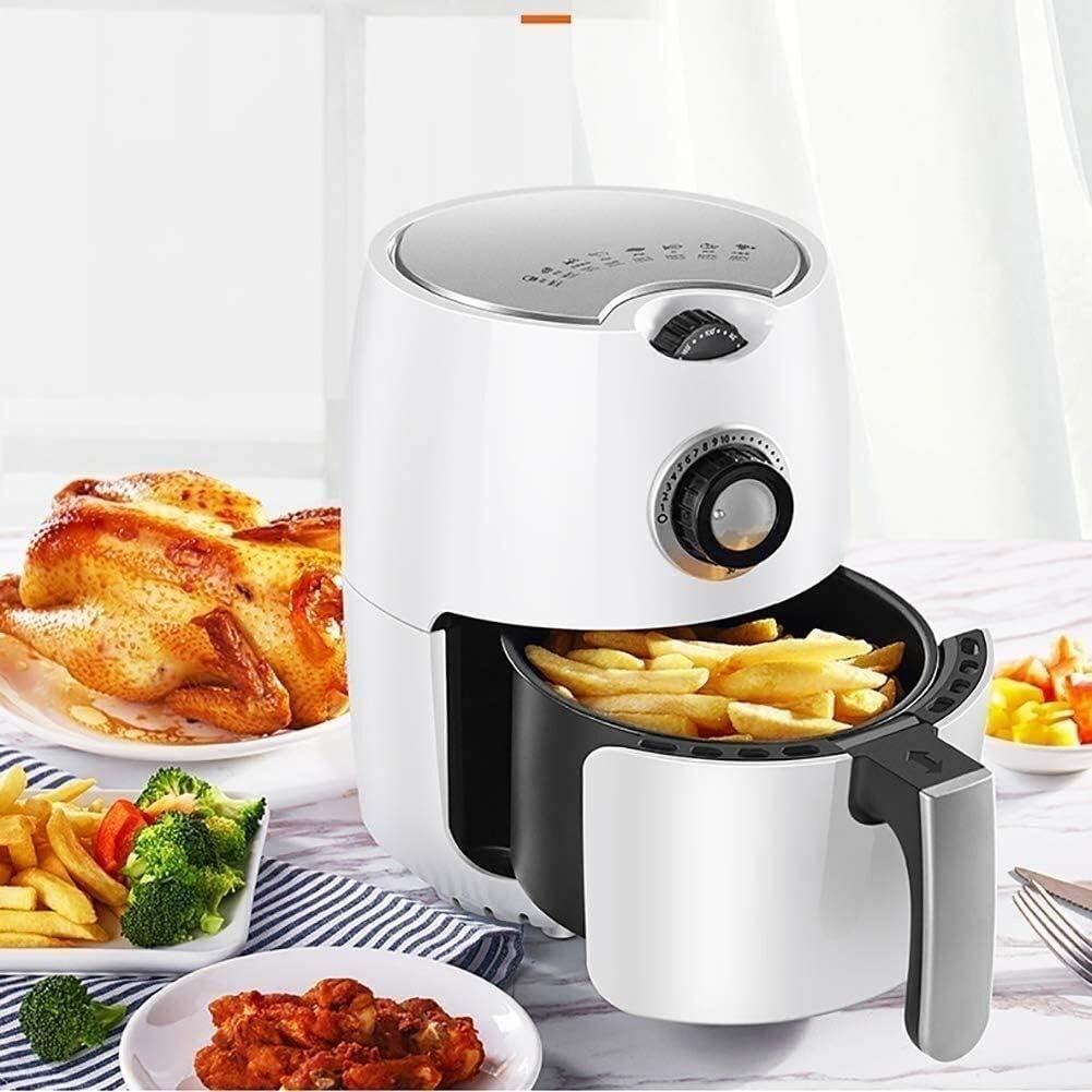 Air Fryer 1000W Air Fryer met 8 Menu Recepten Instellingen, Low Calorie Low Fat Oilless Cooker, 2.2L Thuis Capacity Air Fryer i DDLS (Color : A) A