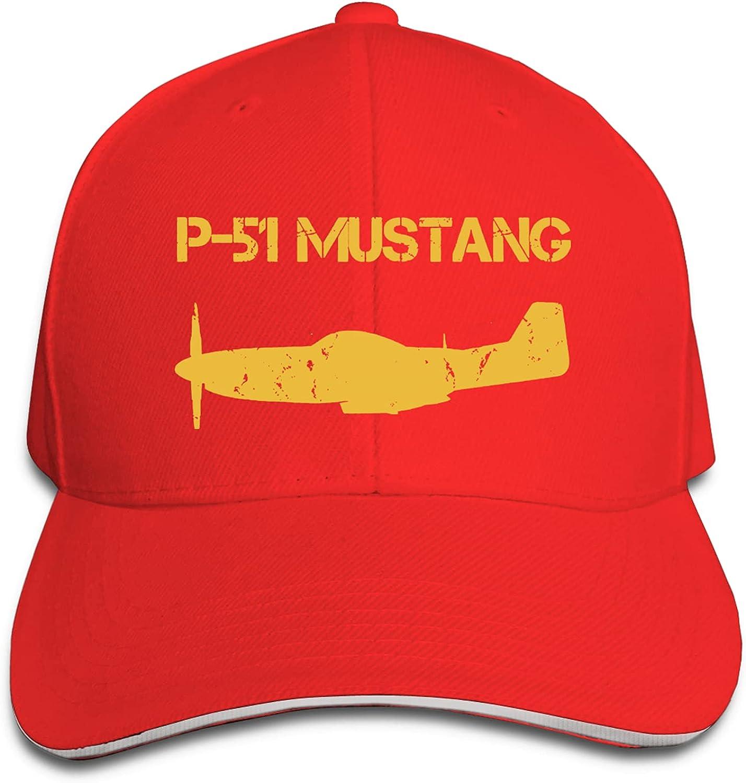 P-51 Mustang Unisex Sandwich Baseball Cap Adjustable Snapback Hat Outdoor Hat