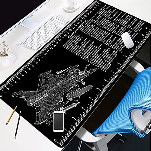 HSPHFX Tapis de tapis de souris de jeu étendu pour ordinateurs conçus une anatomie mondiale de guerre militaire F18 combattant A-10 Attaque avion SUKHOI SU-27 PAD GRAND LARGE NOIR TOPE GEL PAD avec un